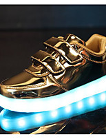 cheap -Girls' Shoes Leatherette Spring Fall Combat Boots Comfort Sneakers Walking Shoes Magic Tape for Casual Gold Silver Purple