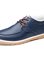 cheap -Men's Shoes PU Spring Fall Fluff Lining Comfort Oxfords for Casual Blue Orange Black