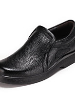 cheap -Men's Shoes Real Leather Spring Fall Comfort Loafers & Slip-Ons for Casual Black