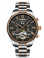 Men's Casual Watch Dress Watch Mechanical Watch Swiss Automatic self-winding Calendar / date / day Chronograph Casual Watch Stainless