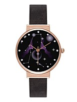 abordables -Hombre Mujer Reloj de Moda Reloj de Pulsera Japonés Cuarzo Fase lunar Acero Inoxidable Banda Colorido Negro Plata Oro Rosa