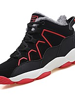 cheap -Boys' Shoes Synthetic Microfiber PU Winter Fall Comfort Athletic Shoes Running Shoes for Athletic Black/Red Black/White