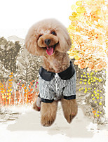 Dog Sweatshirt Jumpsuit Dog Clothes Stylish Keep Warm Trendy Striped Stripe Lips Black Costume For Pets