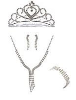 abordables -Mujer Pulseras de puño Los sistemas nupciales de la joyería Cristal Europeo Moda Boda Fiesta Diamante Sintético Legierung Forma de Línea