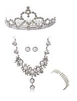 abordables -Mujer Para la Cabeza Los sistemas nupciales de la joyería Cristal Europeo Moda Boda Fiesta Diamante Sintético Legierung Joyería de Cuerpo