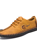 cheap -Men's Shoes Leatherette Spring Fall Comfort Oxfords for Casual Office & Career Khaki Yellow Black
