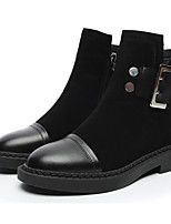 cheap -Women's Shoes Nubuck leather Spring Fall Comfort Fashion Boots Boots Block Heel Mid-Calf Boots for Casual Black