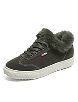 Для женщин Обувь Лакированная кожа Лето Удобная обувь Обувь на каблуках На низком каблуке Круглый носок для Черный Коричневый Зеленый