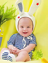 cheap -Baby Unisex Holiday Striped Clothing Set,Spandex Summer Fall Active Short Sleeve Blue