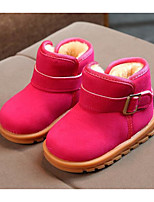 cheap -Girls' Shoes Nubuck leather Winter Fall Comfort Snow Boots Boots Booties/Ankle Boots for Casual Brown Fuchsia Black
