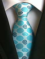 cheap -Men's Polyester Necktie,Work Casual Polka Dot All Seasons Light Blue