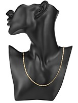 cheap -Men's Women's Simple Chain Necklace , Gold Plated Chain Necklace , Simple Daily
