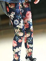 cheap -Girls' Floral Pants,Rayon Modal Spring Fall Cute Active Rainbow