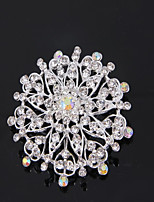cheap -Women's Bridal Jewelry Sets Brooches Classic Lovely Fashion Wedding Daily Silver Plated Brooch