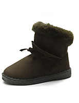 cheap -Women's Shoes Suede Winter Fluff Lining Snow Boots Boots Flat Booties/Ankle Boots for Casual Outdoor Army Green Gray Black