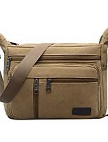 cheap -Men Bags Canvas Shoulder Bag Zipper for Casual Outdoor Winter Fall Khaki Army Green Coffee Black