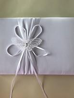 cheap -Satin Romance Fantacy WeddingWithApplique 1 Package Box Guest Book