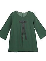 Robe Fille de Décontracté / Quotidien Couleur Pleine Polyester Hiver Automne Manches Longues simple Vert