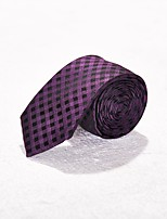 cheap -Men's Wool Necktie,Simple Work Plaid/Checkered All Seasons Purple