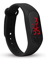 abordables -Mujer Niños Reloj Casual Reloj de Moda Reloj digital Chino Digital Cronógrafo Reloj Casual Silicona Banda Casual Cool Minimalista Negro