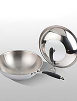 economico -Acciaio Inox Plastica Tonda Piatto Pan Pot multiuso,3