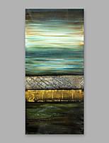 Недорогие -Ручная роспись Абстракция Вертикальная,Modern Холст Hang-роспись маслом Украшение дома 1 панель