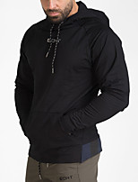 cheap -Men's Daily Hoodie Solid Hooded Inelastic Polyester Long Sleeve Winter Autumn/Fall