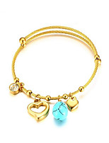 cheap -Women's Bangles Turquoise Rhinestone Copper Gold Plated Turquoise Jewelry For Wedding Daily
