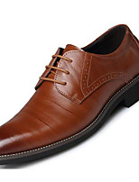 cheap -Men's Shoes PU Spring Fall Comfort Oxfords for Casual Blue Brown Coffee Black