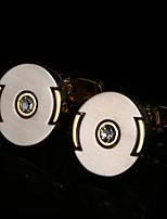 Недорогие -Геометрической формы Золотой Запонки Медь Сплав Подарок Мода Свадьба Муж. Бижутерия