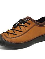 abordables -Hombre Zapatos Cuero de Napa Primavera Otoño Confort Zapatos formales Oxfords para Casual Fiesta y Noche Café Marrón
