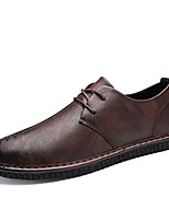 cheap -Men's Shoes Leatherette Spring Fall Comfort Sneakers for Casual Brown Black