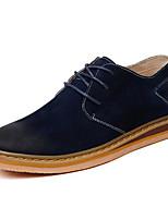 cheap -Men's Shoes Nubuck leather Winter Fall Comfort Oxfords for Casual Khaki Dark Brown Light Blue Dark Blue