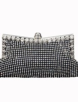cheap -Women Bags Nylon Evening Bag Crystal Detailing for Wedding Event/Party All Season Silver Black Gold