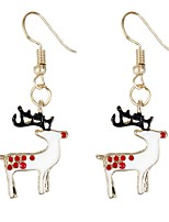 cheap -Women's Drop Earrings , Animals Bohemian Colorful Fiber Alloy Elk Jewelry Christmas Ceremony