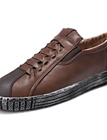 cheap -Men's Shoes Nappa Leather Spring Fall Comfort Sneakers Buckle for Outdoor Coffee Black