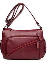 cheap -Women Bags PU Crossbody Bag Zipper for Casual All Season Black Purple Light Gold Light Grey Wine