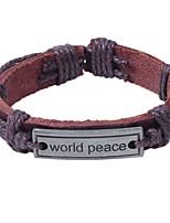abordables -Homme Femme Bracelet Cuir Alliage Forme de Cercle Bijoux Pour Quotidien Rendez-vous