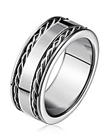 cheap -Men's Women's Band Rings Fashion European Stainless Steel Circle Jewelry For Engagement Ceremony
