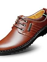 Недорогие -Для мужчин обувь Оксфорд Весна Осень Удобная обувь Туфли на шнуровке для Повседневные Черный Коричневый Морской синий
