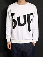 cheap -Men's Cotton Sweatshirt Letter Round Neck Micro-elastic Cotton Long Sleeves Fall