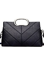 Women Bags PU Crossbody Bag Zipper for Event/Party Casual Winter Fall Black Gray Purple Brown Wine