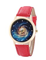 cheap -Women's Fashion Watch Dress Watch Wrist watch Chinese Quartz Casual Watch PU Band Casual Black White Blue Red Brown Pink