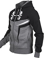 cheap -Men's Sports Hoodie Solid Print Hooded Micro-elastic Polyester Long Sleeve Winter Fall