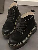 preiswerte -Damen Schuhe PU Winter Komfort Springerstiefel Stiefel Blockabsatz Runde Zehe Geschlossene Spitze Booties / Stiefeletten für Normal