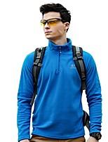 cheap -Men's Hiking Fleece Jacket Outdoor Winter Keep Warm Windproof Top Single Slider Running/Jogging Fishing Casual
