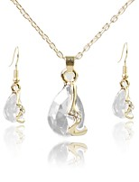 cheap -Women's Jewelry Set Bridal Jewelry Sets Simple Lovely Fashion Daily Evening Party Gold Plated 1 Necklace Earrings