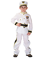 cheap -Sailor Mercury Vintage Inspired Costume Boys' Costume White Vintage Cosplay Poly/Cotton Long Sleeves Bishop Ankle Length