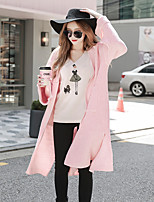 cheap -DABUWAWA Women's Going out Casual/Daily Simple Long Cardigan,Solid Stand Long Sleeves Polyester Nylon Spring Fall Thick Micro-elastic