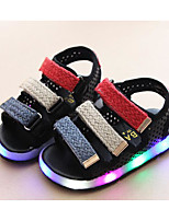 Boys' Shoes Synthetic Microfiber PU Winter Fall Comfort Sandals Walking Shoes Magic Tape for Casual White Black Pink